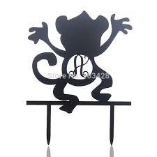 aliexpress com buy custom name happy birthday cake topper monkey