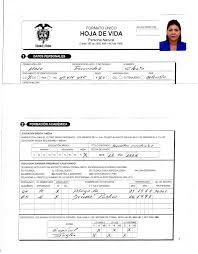 formato hoja de vida 2016 colombia hoja de vida cgr
