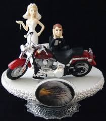 204 motorcycle wedding cake topper with harley davidson wedding