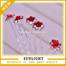 wholesale hair spin pins for wedding decoration accessories metal