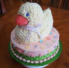 3 d duck baby shower cake cakecentral com