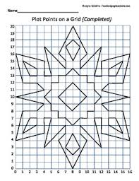 plot points on a grid snowflake coordinates math students and