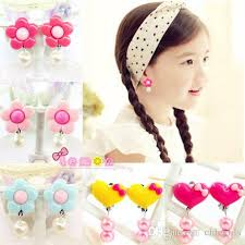 kids clip on earrings kids accessories children s high quality jewelry baby heart