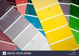 dulux paint colour cards london stock photo royalty free image
