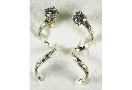 earring jackets dangle earring jackets diamond enhancer dangle spiral silver aftcra