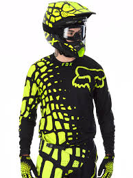fox motocross gear nz fox black yellow 2017 360 grav mx jersey fox freestylextreme