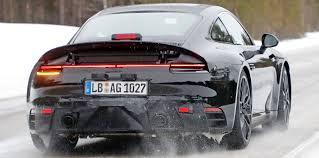 new porsche 911 2018 2018 porsche 911 spied with production body photos 1 of 9