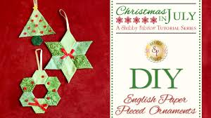 diy paper pieced ornaments with bosworth of