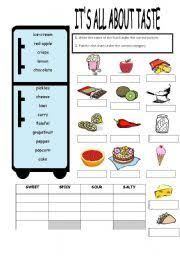 worksheet it s all about taste