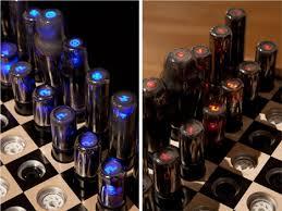 Futuristic Chess Set Glowing Endorsement Retrofuturistic Tesla Chess Set Gadgets