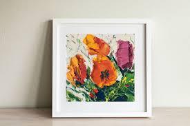 original painting flower oil on canvas flowers art home
