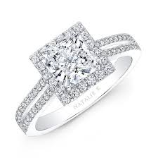 nice engagement rings images 18k white gold split shank square halo diamond engagement ring jpg