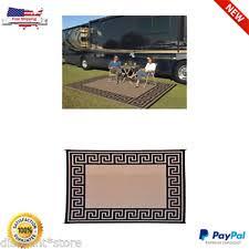 patio mat 9x12 rv reversible indoor outdoor rug camping picnic