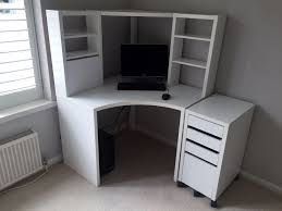White Corner Workstation Desk Pretty White Corner Desk With Drawers All Office Desk Design