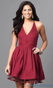 v neck lace back semi formal dress brought to you by