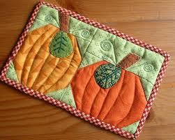 halloween rugs pumpkin duo mug rug love the fall love pumpkins quilting