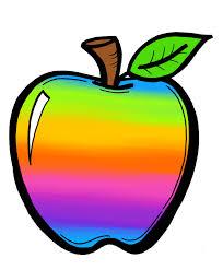 rainbow apple cliparts free download clip art free clip art