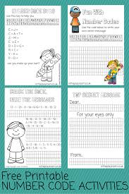 number codes activity with free printables in the playroom