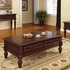 Silver Sofa Table Steve Silver Davina Rectangle Cherry Wood Coffee Table Walmart Com