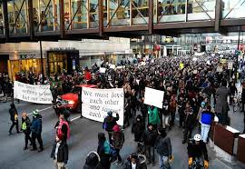 minneapolis black lives matter protesters hold community