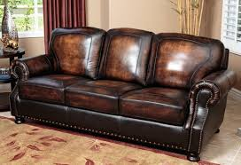 Traditional Leather Sofas Creative Of Nailhead Leather Sofa Traditional Top Grain Leather
