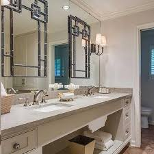Bathroom With Mirrors Layered Bathroom Mirrors Design Ideas
