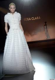 andrej pejic wedding dress looks gorgeous on rosa clara runway