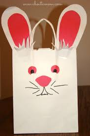 Easter Decorations With Construction Paper by Last Minute Easter Craft Easter Bunny Bag About A Mom
