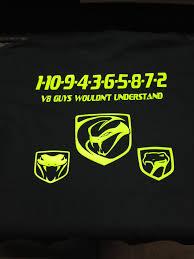 dodge viper t shirt firing order lambo shirts