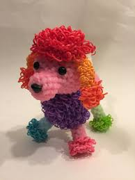 rainbow loom thanksgiving charms rainbow color changing poodle rubber band figure rainbow loom