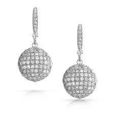 disco earrings bling jewelry large disco cubic zirconia drop earrings