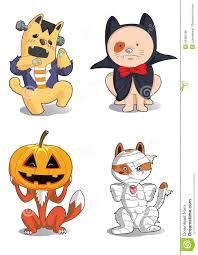 animals halloween cute characters stock vector image 44382486