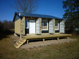 tiny home cabin bulletproof lockable godzilla proof container home small house