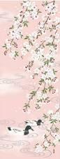 Threshold Aqua Peach Birds Floral Japanese Birds Flowers Art Prints Woodblock Prints Paintings