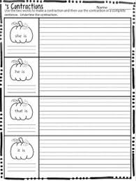 great contraction practice homeschool pinterest worksheets
