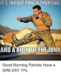 Throat Punch Meme - it s throat punch thursday and a kick to thejunk good morning