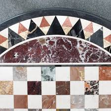 Marble Table Top 19th Century Italian Pietra Dura Specimen Marble Chess Board