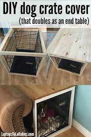 How To Build End Table Plans by Best 25 Dog Crate End Table Ideas On Pinterest Diy Dog Crate