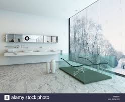 transparent bathtub glass glas transparent bathtub tub bathroom stock photo 99829351