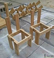 simple kid u0027s table and chair set free pallets and pallet projects