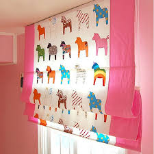 kids little poney cotton blackout curtains in pink buy multi