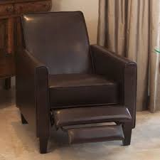 Brown Leather Recliner Lucas Brown Leather Recliner Club Chair Review Best Recliners