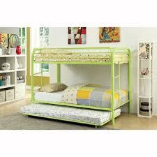 Furniture Of America Rainbow Metal Bunk Bed With Trundle The Mine - Furniture of america bunk beds