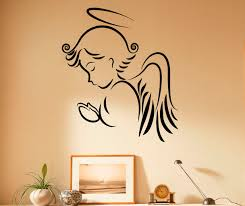 angel wall decal religion vinyl stickers jesus christ home zoom