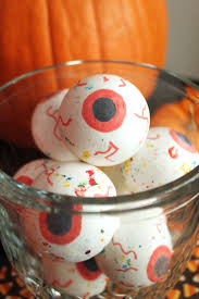 look at these creepy halloween treats and they stare back at you