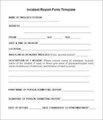incident report form template word 10 incident report templates word excel pdf formats