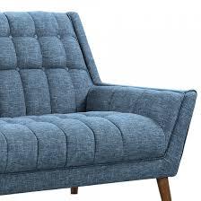 Mid Century Modern Sofa Legs by Cobra Mid Century Modern Loveseat In Blue Linen And