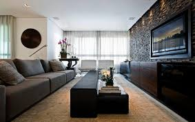 Living Room Without Sofa Modern Living Room With Big Gray Sofa And White Tufted Chairs