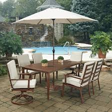 Cheap Patio Dining Set With Umbrella by Hampton Bay Corranade 7 Piece Wicker Outdoor Dining Set With