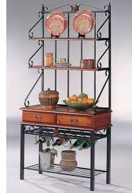 Wrought Iron Bakers Rack With Glass Shelves Collection Of Wooden Bakers Rack All Can Download All Guide And